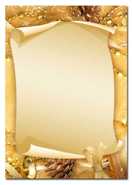 briefpapier motiv frohe weihnachten 50 blatt din a4 format 90g m ebay. Black Bedroom Furniture Sets. Home Design Ideas