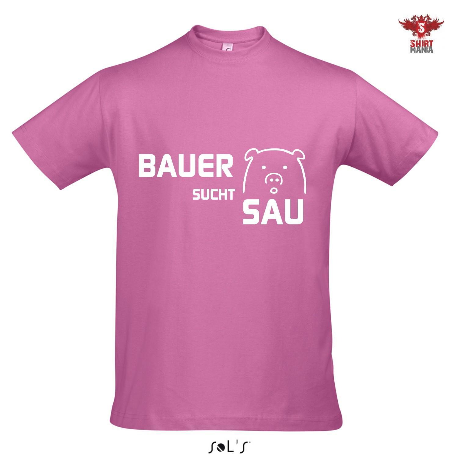 t shirt bauer sucht sau fasching karneval party shirt. Black Bedroom Furniture Sets. Home Design Ideas