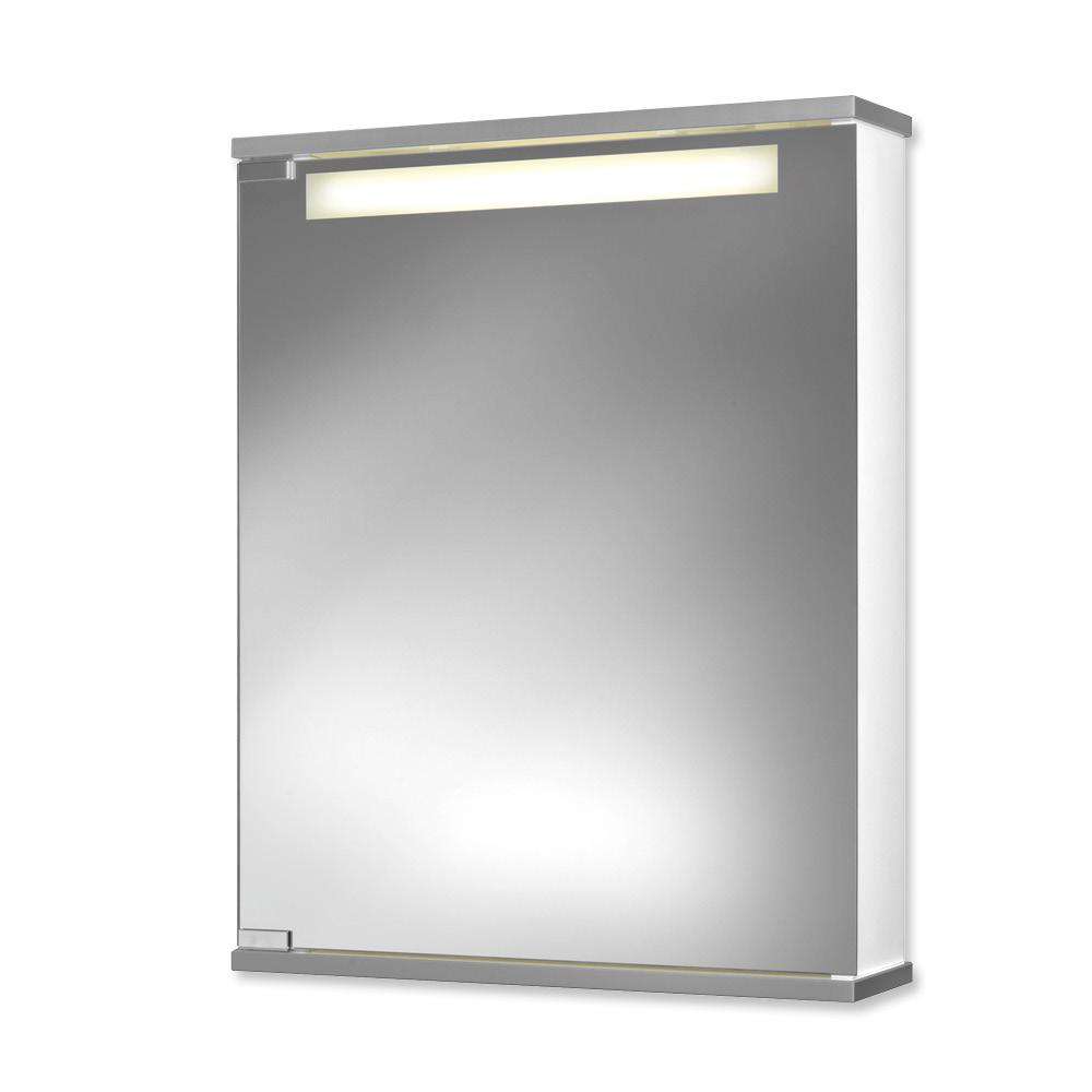 jokey spiegelschrank cento 50 ls front aluoptik badezimmerspiegel ebay. Black Bedroom Furniture Sets. Home Design Ideas