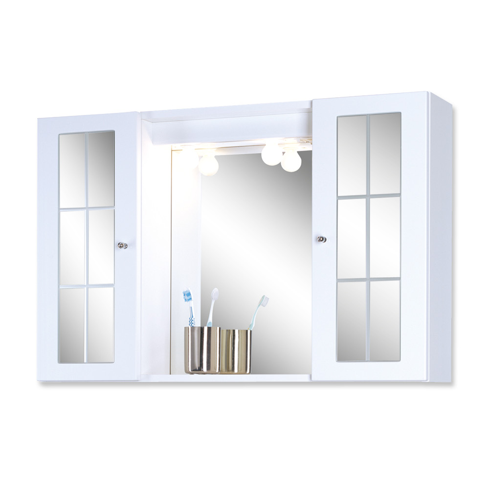 Badezimmer spiegelschrank holz weiss for Badezimmer spiegelschranke