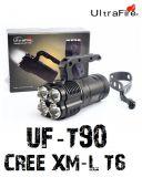 Ultrafire UF-T90 Taschenlampe XML U2X4 LED Suchscheinwerfer max. 2000 Lumen