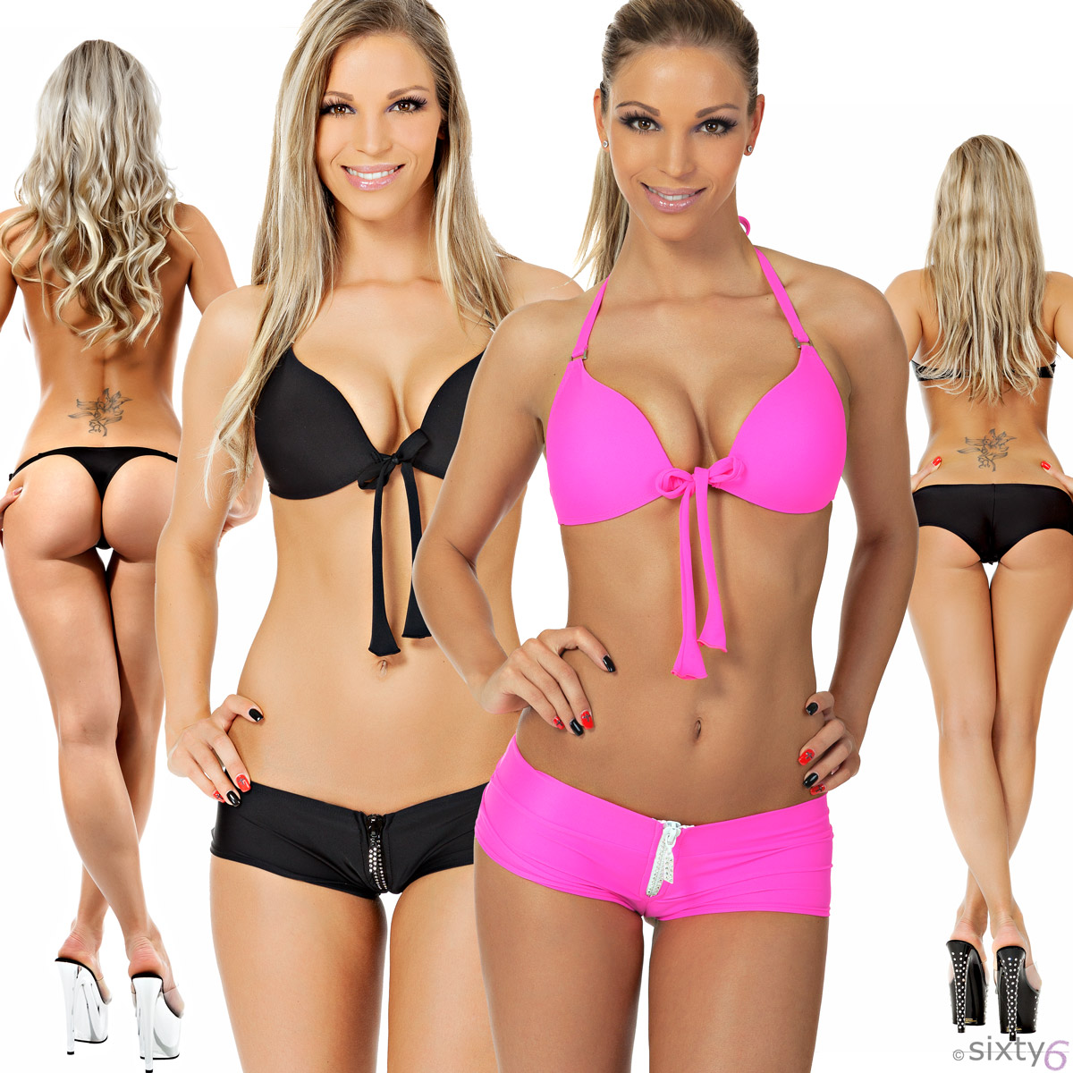 sexy push up bikini hotpants minislip string tanga strass neon outfit xs s m l ebay. Black Bedroom Furniture Sets. Home Design Ideas