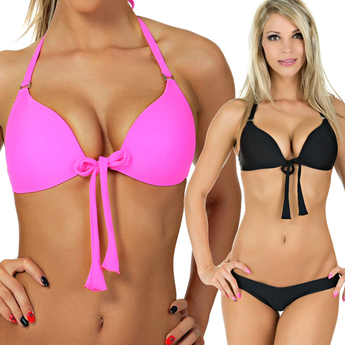 push up bikini neon pink images. Black Bedroom Furniture Sets. Home Design Ideas
