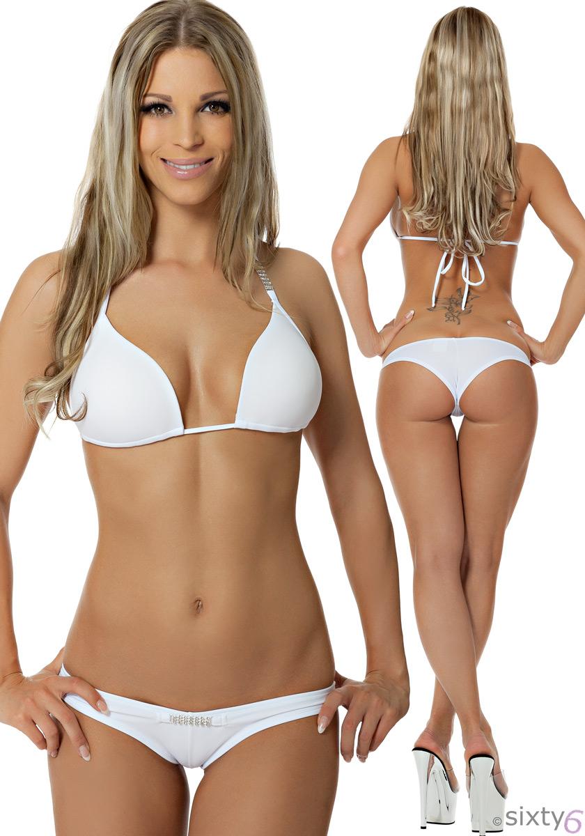 push up bikini sixty6 strass neckholder und hotpants beach. Black Bedroom Furniture Sets. Home Design Ideas