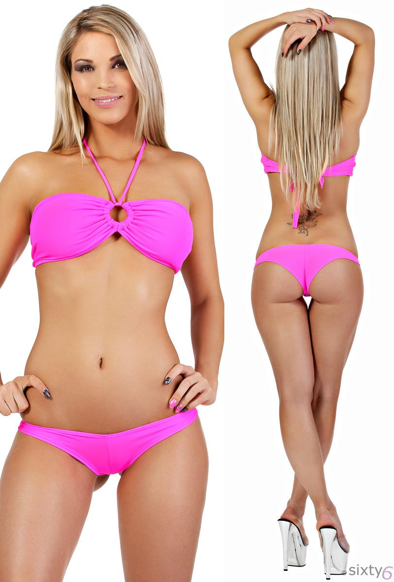 bandeau und hotpant bikini beach wear hotpant und top neon. Black Bedroom Furniture Sets. Home Design Ideas