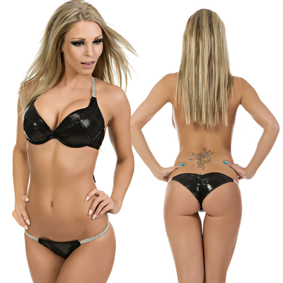 gogo strass push up bikini mit pants sexy hologramm. Black Bedroom Furniture Sets. Home Design Ideas