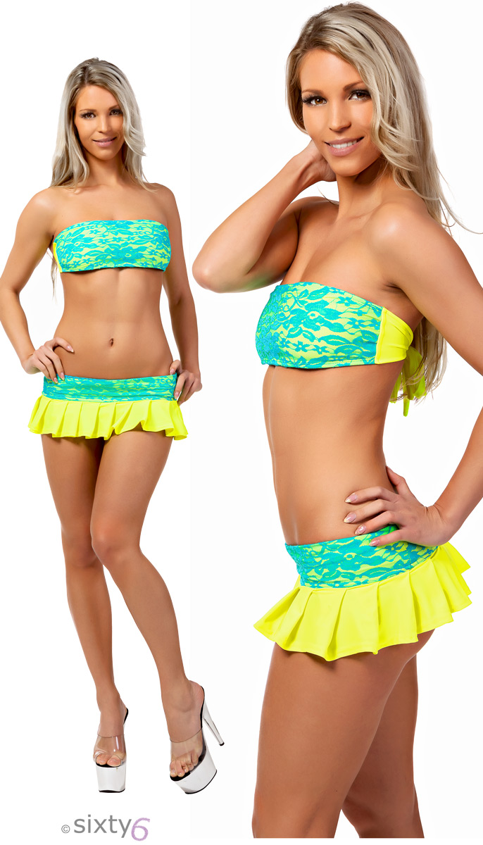 clothing clubwear neon glow rave wear mini dress