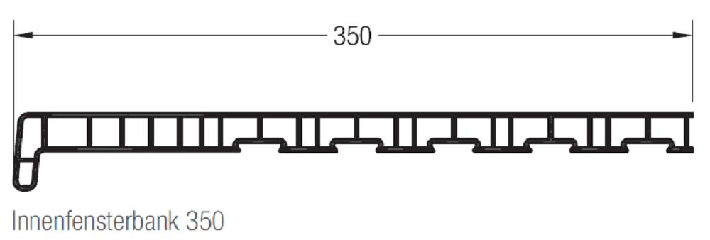 rehau innenfensterbank novus wei tiefe 350 mm kunststoff. Black Bedroom Furniture Sets. Home Design Ideas