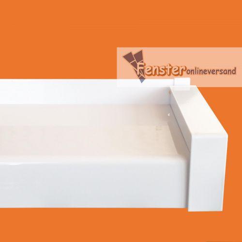 aluminium fensterbank wei f r wdvs inkl aluminium gleitabschluss ebay. Black Bedroom Furniture Sets. Home Design Ideas