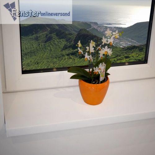 fensterbank 200 mm wei kunststoff fensterbrett innen inkl kappe top preis ebay. Black Bedroom Furniture Sets. Home Design Ideas