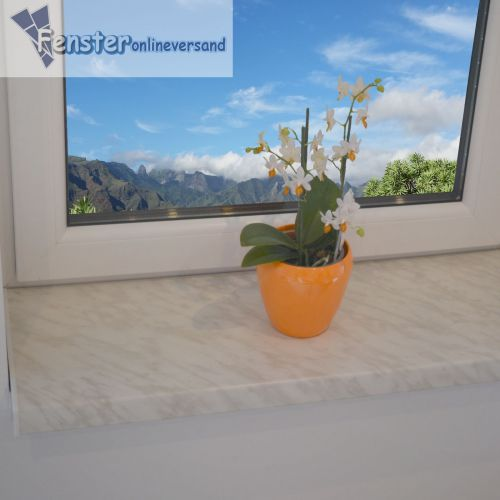 fensterbank 250 mm marmor kunststoff fensterbrett innen inkl kappe top preis ebay. Black Bedroom Furniture Sets. Home Design Ideas