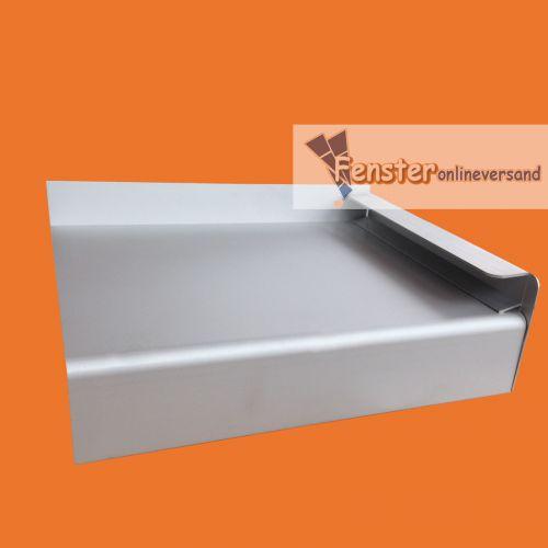 fensterbank aluminium tiefe 240 mm silber ev1 eloxiert au en fensterbrett ebay. Black Bedroom Furniture Sets. Home Design Ideas