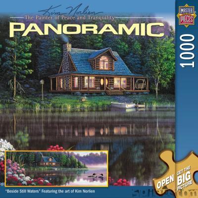 Besides-Still-Waters-1000-Teile-Panoramic-Puzzle-von-Masterpieces-NEU