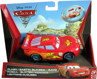 Cars-2-Lightnung-McQueen-mit-Rueckziehmotor-von-Mattel-NEU