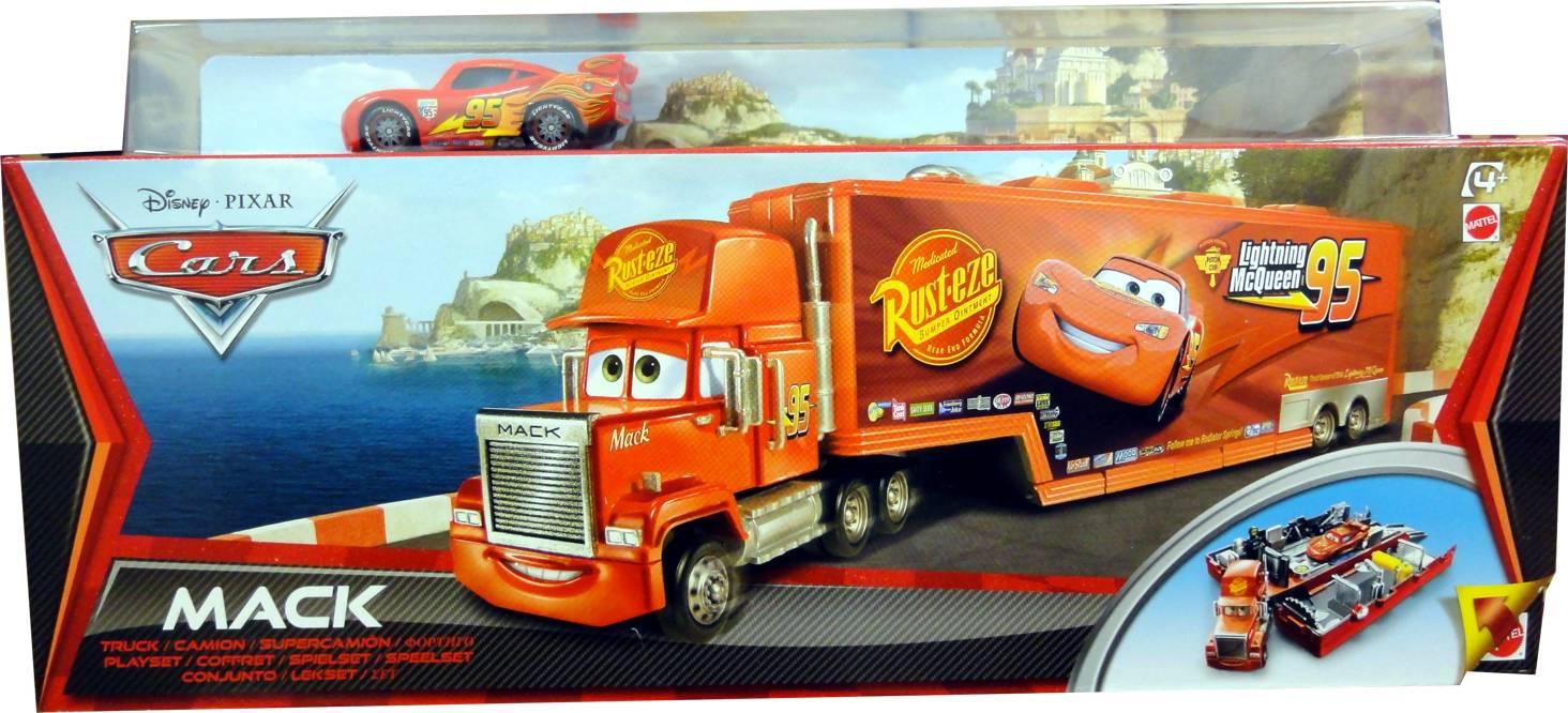 Lightning Mcqueen Mack Truck : Cars mack truck basurillas con rayo mcqueen de mattel