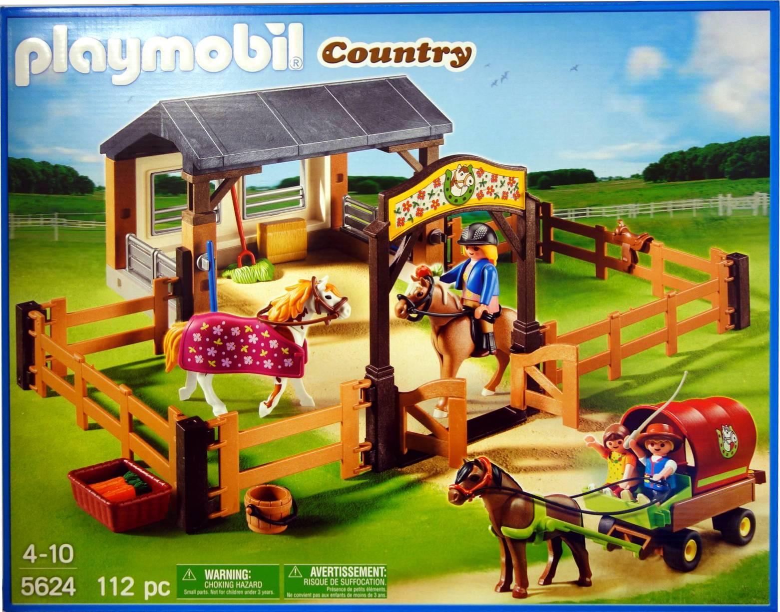 5624 caballos granja set de playmobil country nuevo ebay for Playmobil pferde set