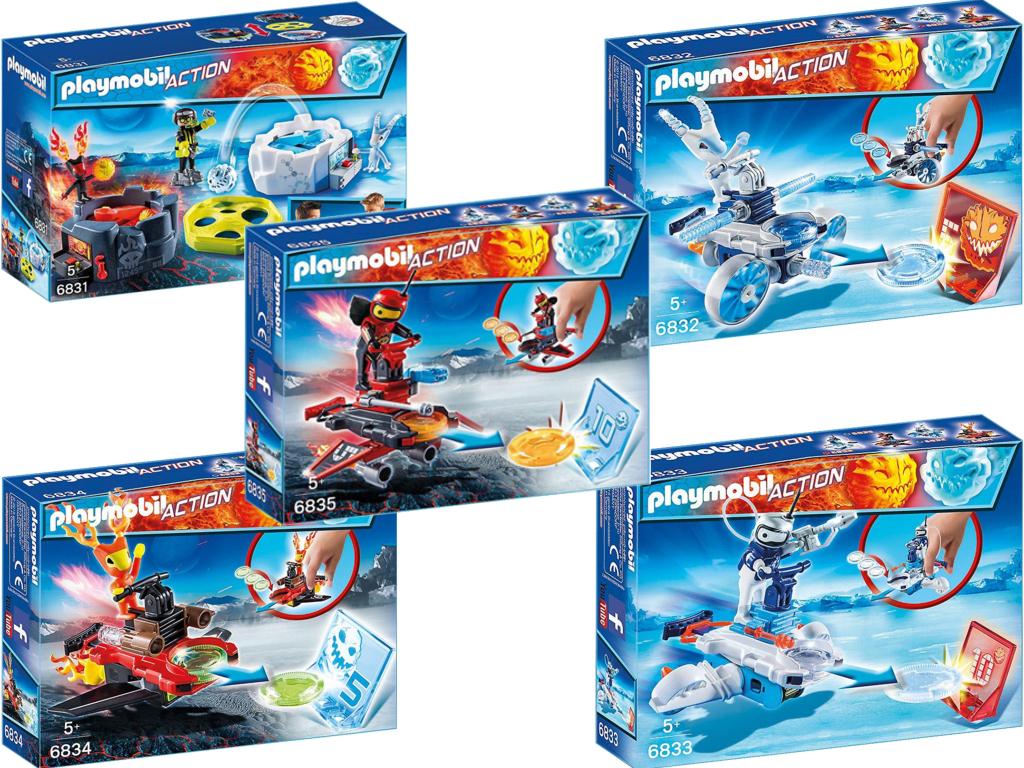 6831 6835 Fire Ice Action Game Deko Set Playmobil Neu