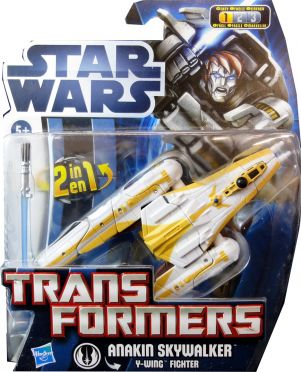 Star Wars Transformers Class I Anakin Skywalker - Y-Wing Fighter -NEU-