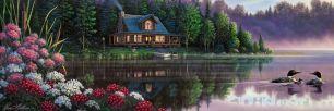 Besides Still Waters 1000 Teile Panoramic Puzzle von Masterpieces -NEU-