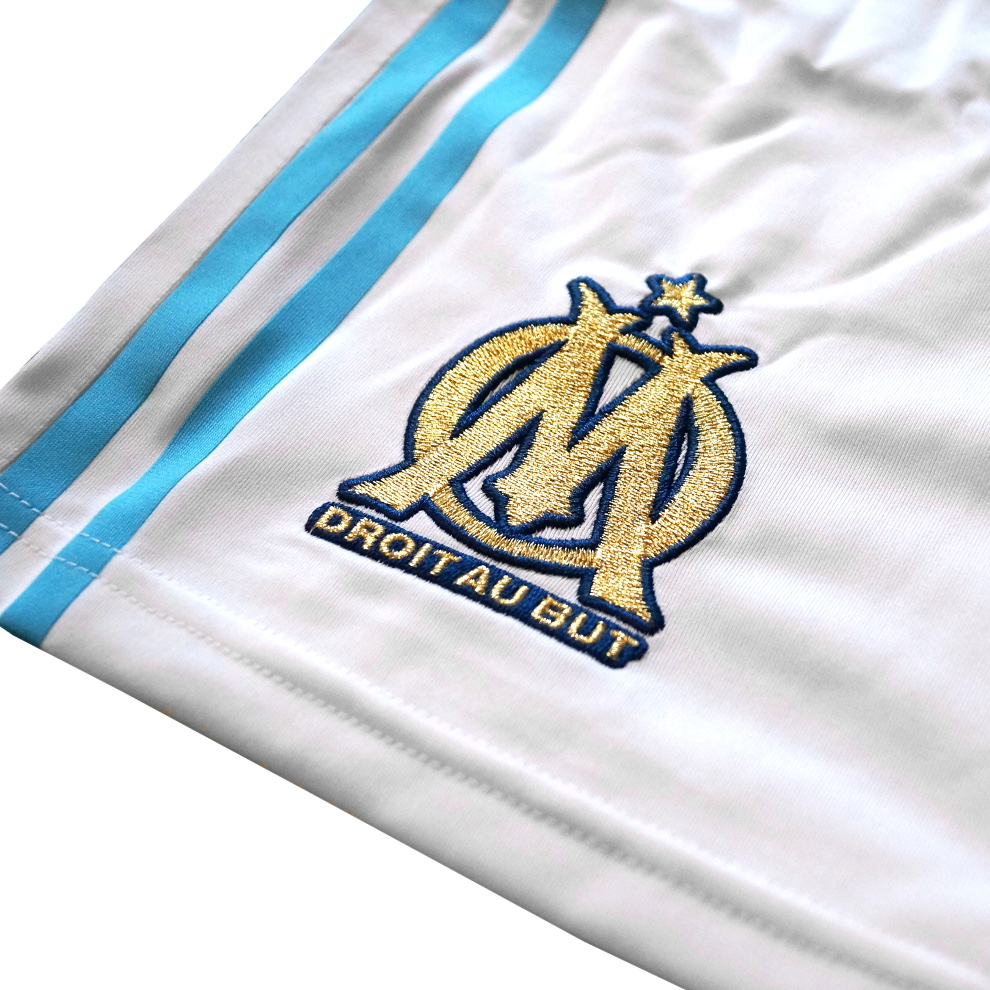 adidas olympique marseille home short herren wei hose. Black Bedroom Furniture Sets. Home Design Ideas