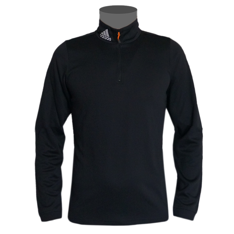 adidas comiques 1 2 zip col roul sweatshirt noir ebay. Black Bedroom Furniture Sets. Home Design Ideas