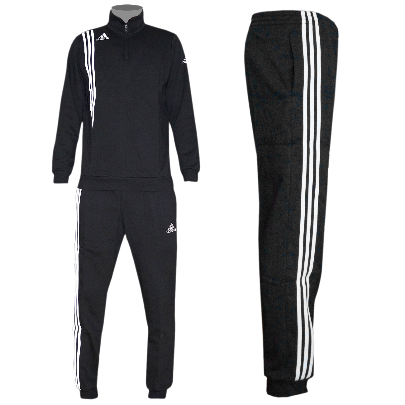 adidas sereno 11 sweatanzug jogginganzug schwarz herren. Black Bedroom Furniture Sets. Home Design Ideas