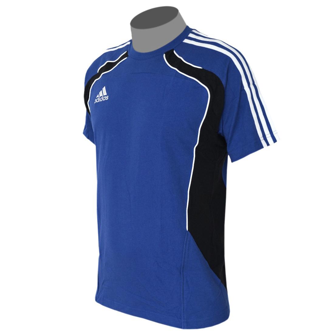adidas condivo herren t shirt blau trikot trainingsshirt baumwolle ebay. Black Bedroom Furniture Sets. Home Design Ideas