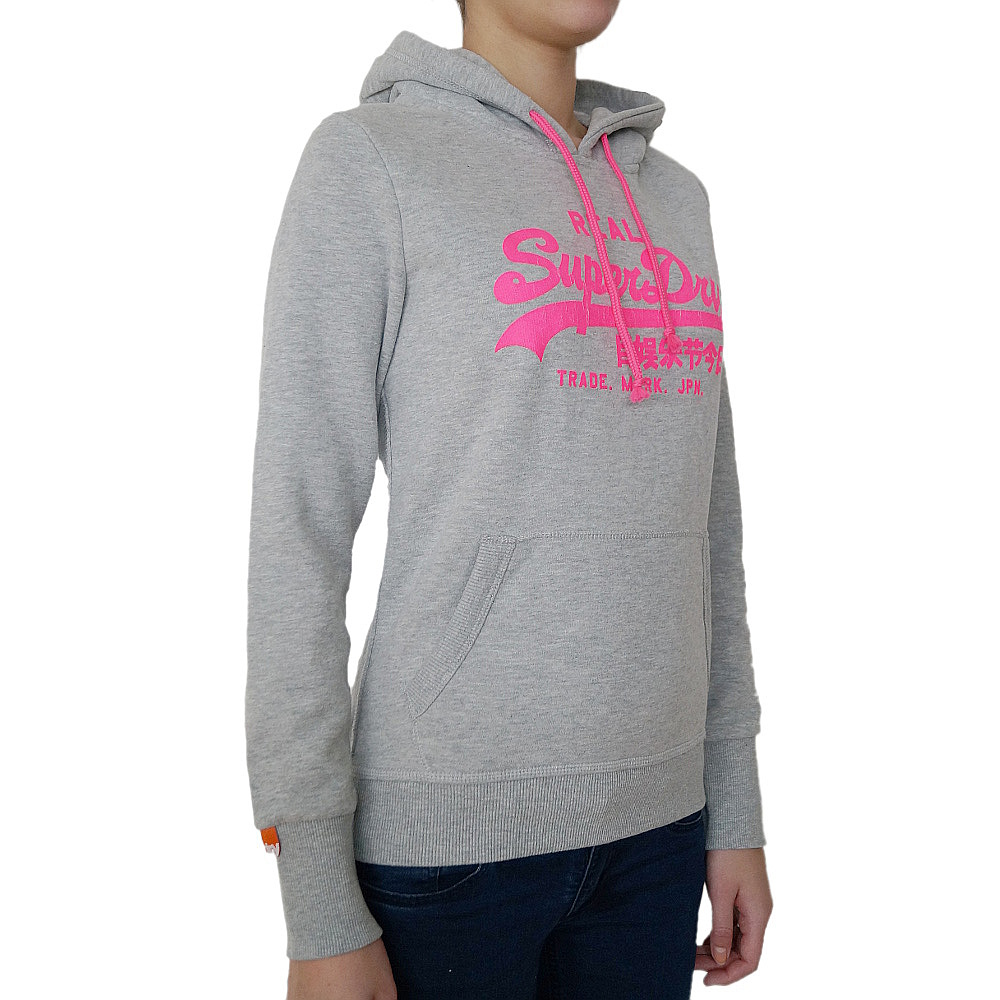 superdry damen kapuzenpullover black label sweatshirt. Black Bedroom Furniture Sets. Home Design Ideas