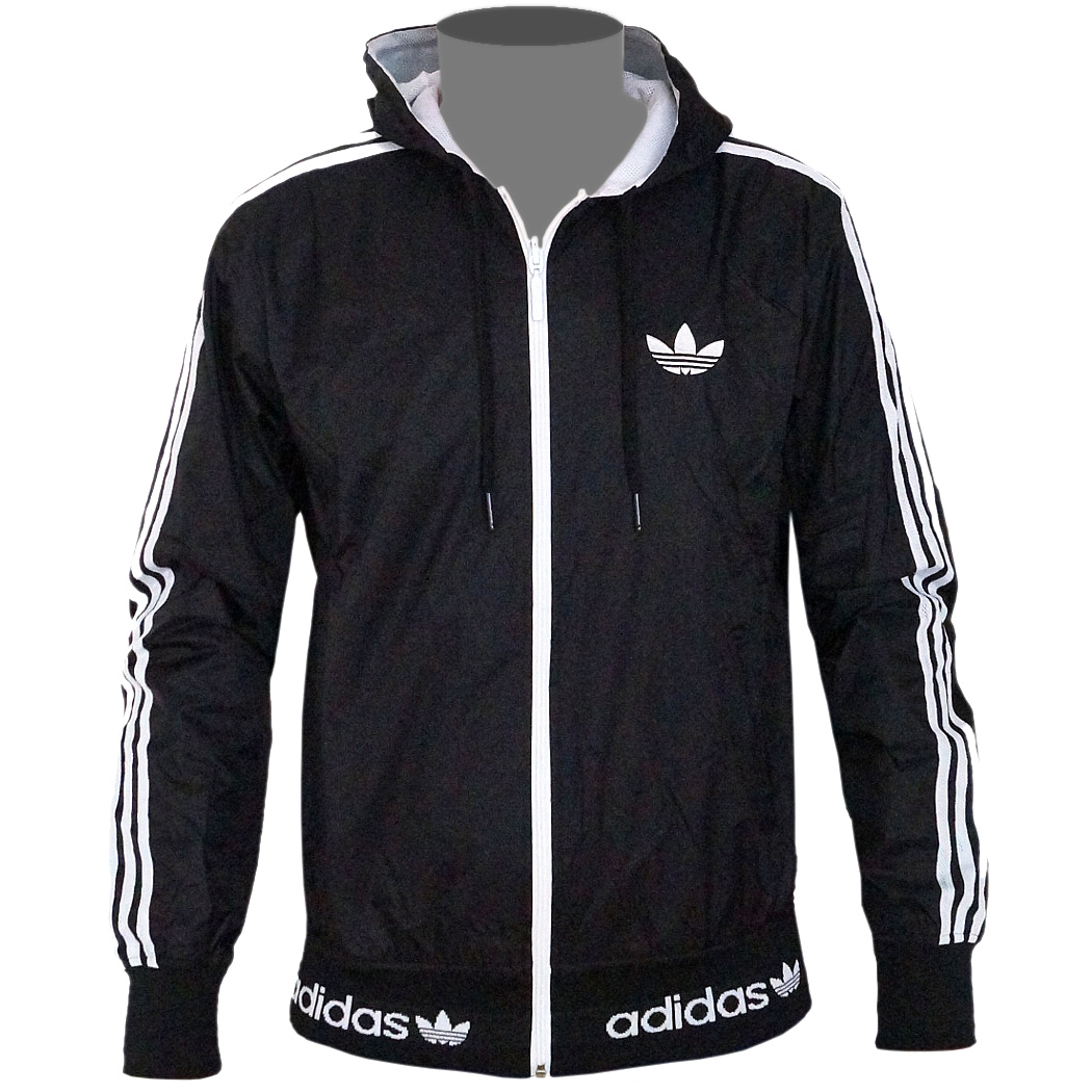 adidas originals reversible windbreaker hoodie black white jacket. Black Bedroom Furniture Sets. Home Design Ideas
