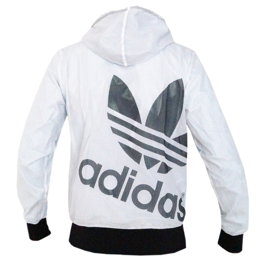 adidas originals reversible mens windbreaker hoodie sweater black white jack ebay. Black Bedroom Furniture Sets. Home Design Ideas