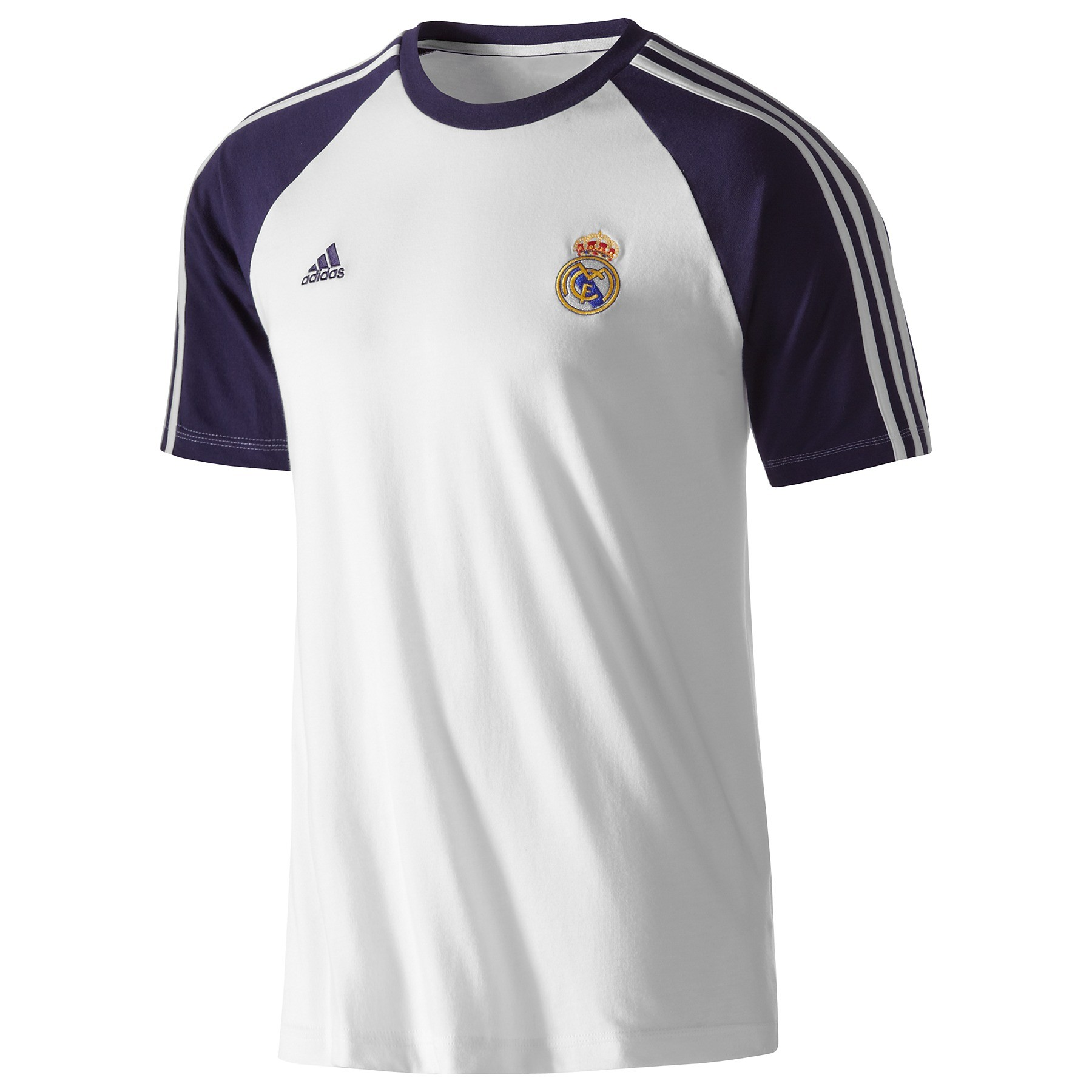 adidas real madrid herren t shirt wei cotton shirt tee. Black Bedroom Furniture Sets. Home Design Ideas