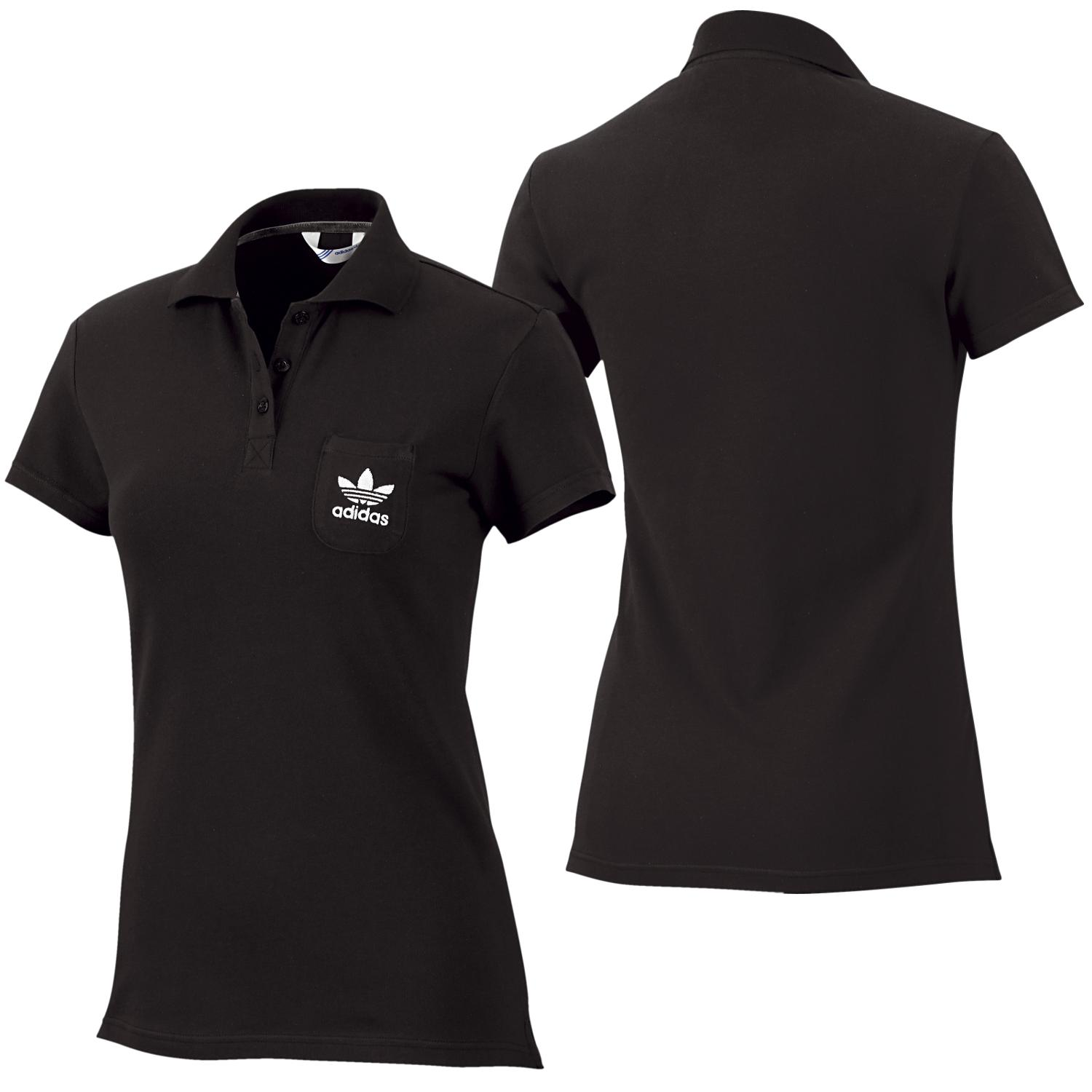 adidas originals damen poloshirt schwarz adi polo shirt core golf ebay. Black Bedroom Furniture Sets. Home Design Ideas