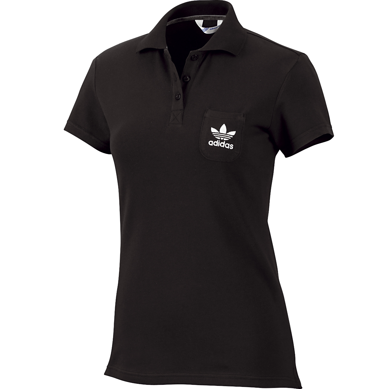 adidas originals damen poloshirt schwarz adi polo shirt core golf ebay. Black Bedroom Furniture Sets. Home Design Ideas