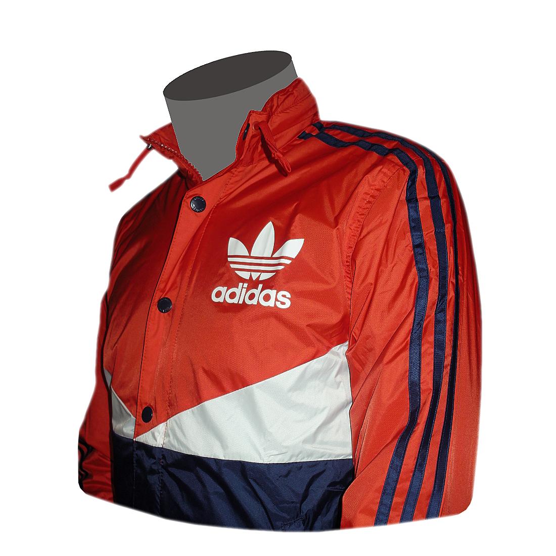 Adidas Originals AC Windbreaker Rot/weiß/blau Windjacke