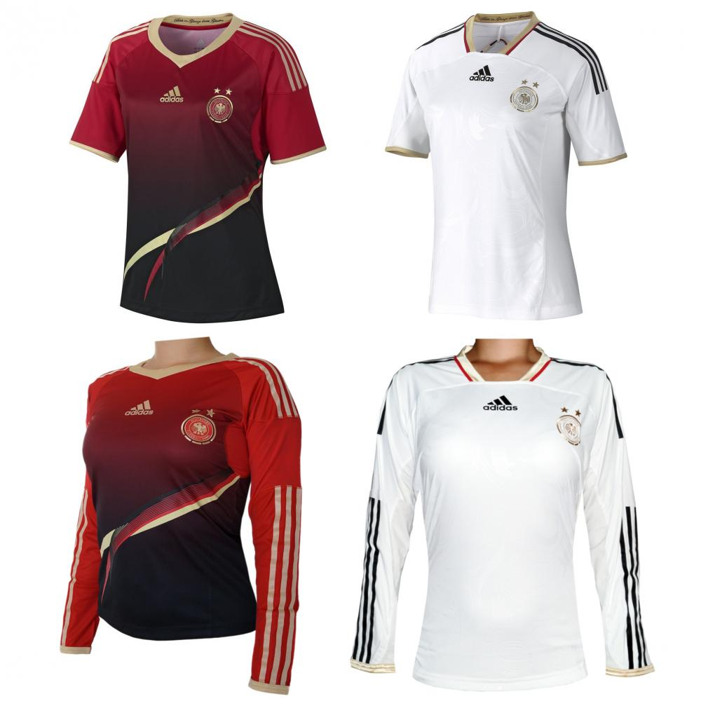 adidas dfb damen fu ball trikot wm 2014 deutschland in 4. Black Bedroom Furniture Sets. Home Design Ideas