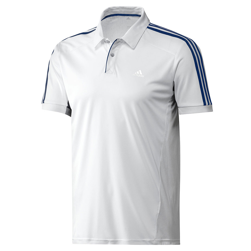 details about adidas 365 polo herren poloshirt wei sport tee shirt. Black Bedroom Furniture Sets. Home Design Ideas