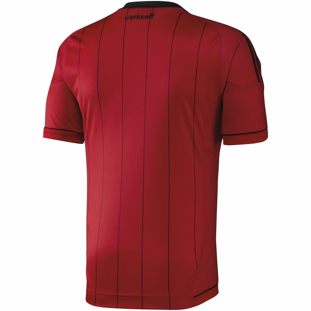 adidas bayer 04 leverkusen trikot home herren jersey rot. Black Bedroom Furniture Sets. Home Design Ideas