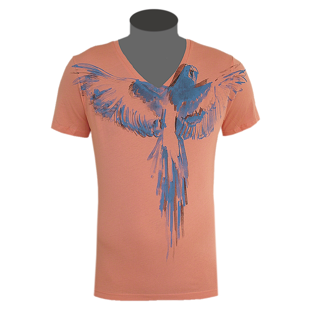 hugo boss orange label t shirt herren v neck texus lachs. Black Bedroom Furniture Sets. Home Design Ideas