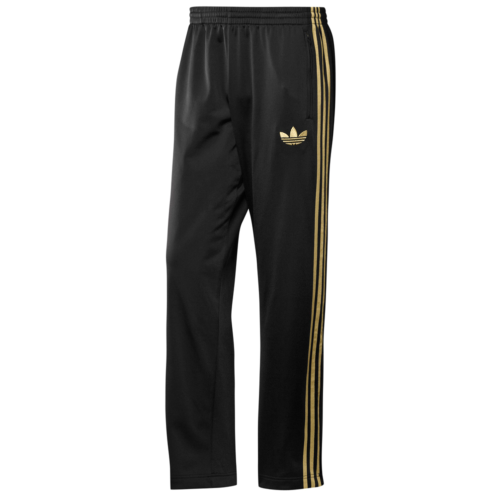 adidas firebird herren hose schwarz gold fitnesshose. Black Bedroom Furniture Sets. Home Design Ideas