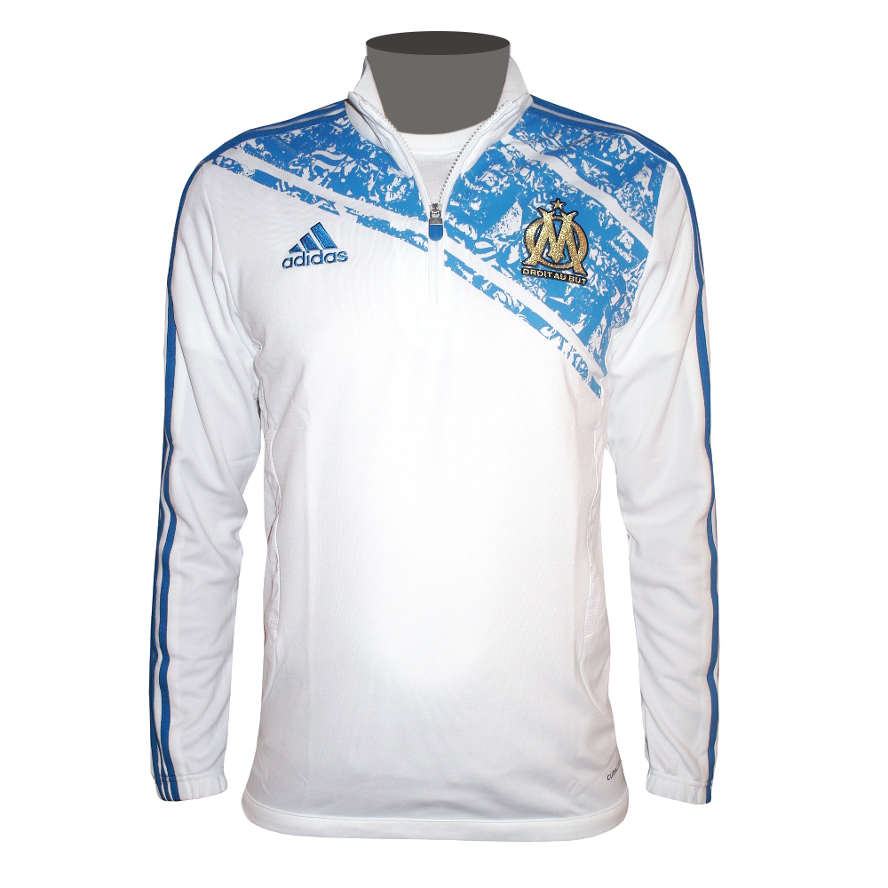 adidas olympique marseille sport pullover trainings sweatshirt wei ebay. Black Bedroom Furniture Sets. Home Design Ideas