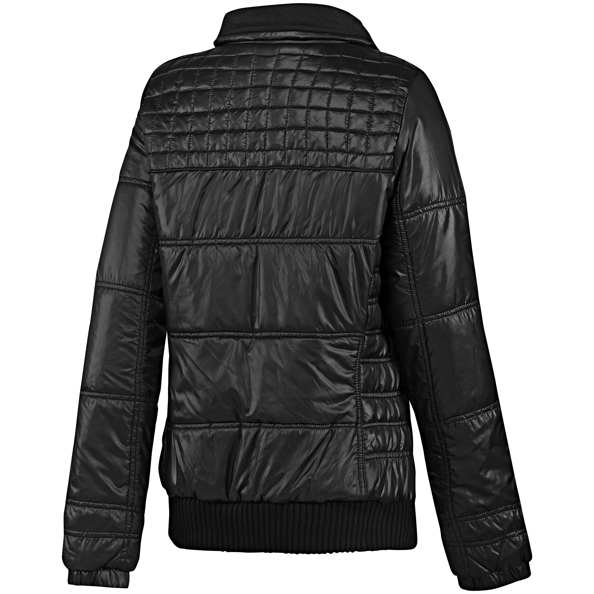 adidas 3 stripe damen winterjacke schwarz jacke ebay. Black Bedroom Furniture Sets. Home Design Ideas