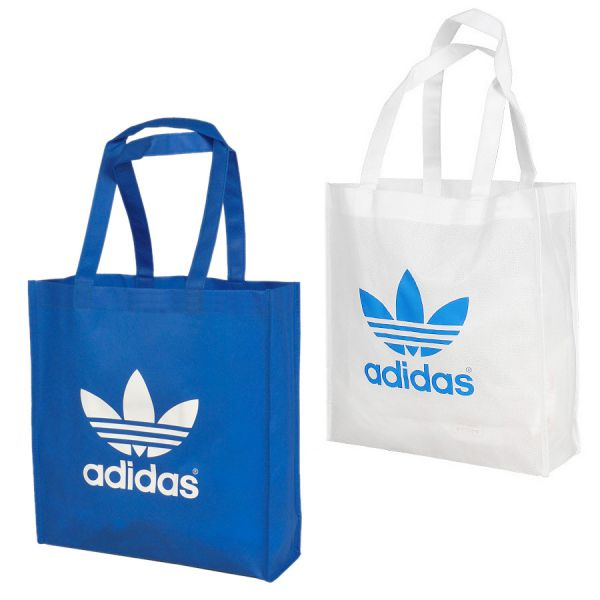 adidas originals trefoil shopper einkaufs tasche bag tragetasche wei blau ebay. Black Bedroom Furniture Sets. Home Design Ideas