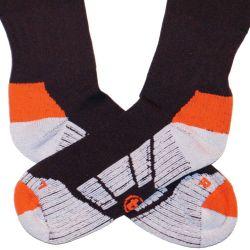 Adidas Olympique Marseille Strumpfstutzen schwarz/orange Stutzen OM