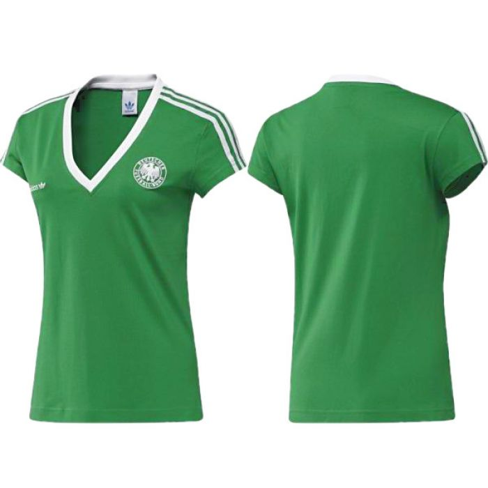 adidas dfb damen fan t shirt retro e12 deutschland gr n tee wm em. Black Bedroom Furniture Sets. Home Design Ideas