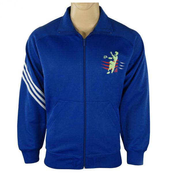 details about adidas herren sport jacke sweatshirt pullover blau wm. Black Bedroom Furniture Sets. Home Design Ideas