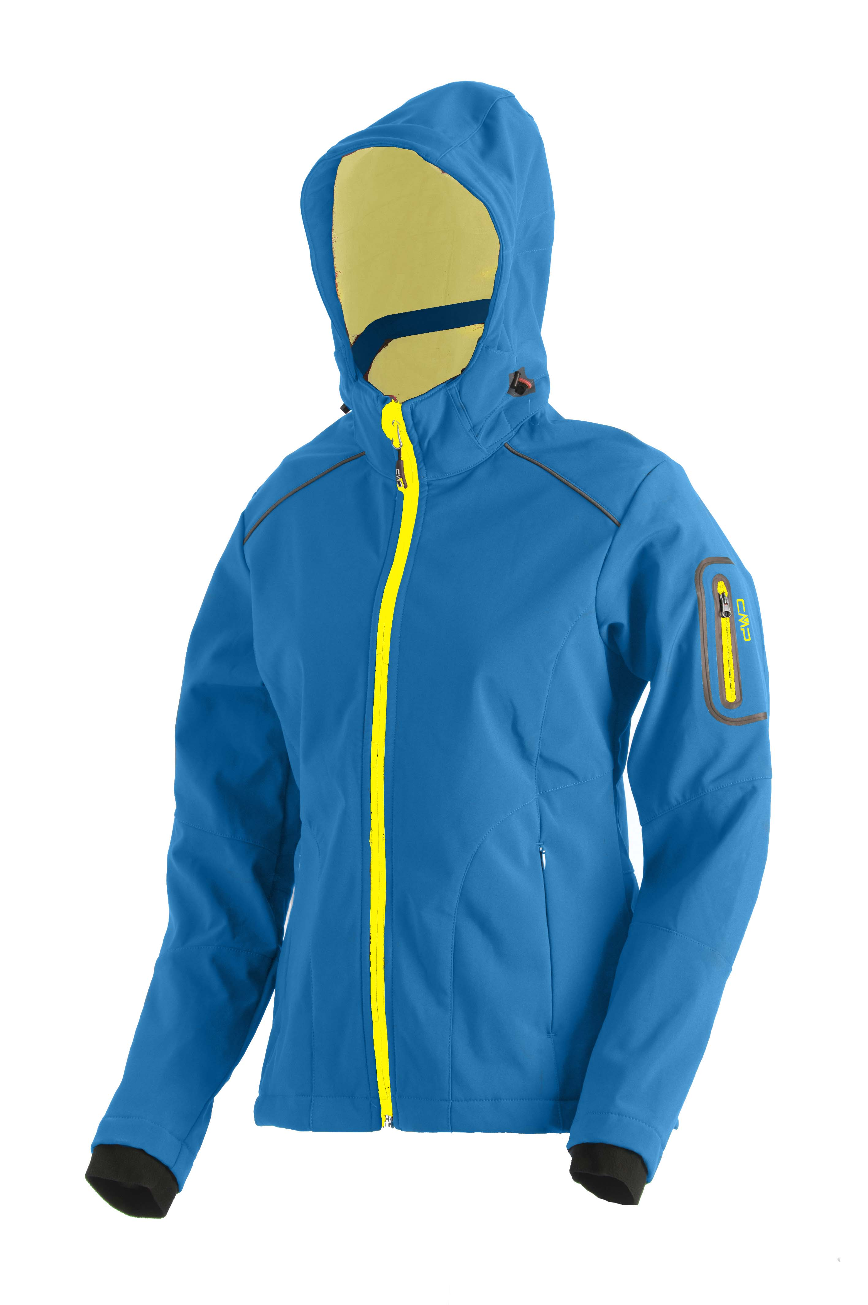 cmp jacke softshell zip hood damen outdoorjacke