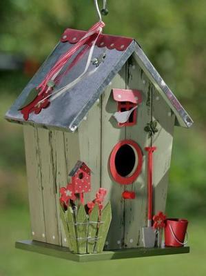 vogelhaus vogelvilla vogelh uschen nistkasten mit fenster. Black Bedroom Furniture Sets. Home Design Ideas