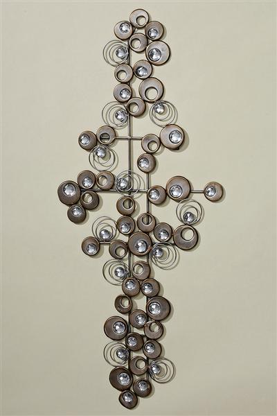 Wandobjekt kunstobjekt wanddeko rasmus metall champagner 88 cm ebay - Metall wanddeko ...
