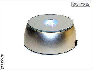 Led Sockel Rund mit Spiegel 4 LED's bunt LED-Base Leuchtuntersetzer