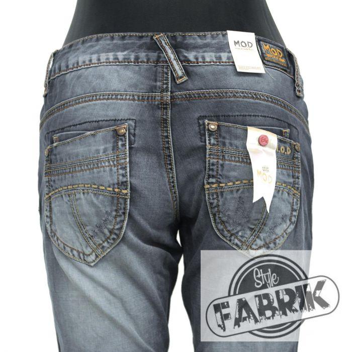 m o d damen jeans alice straight fit used look aviator. Black Bedroom Furniture Sets. Home Design Ideas